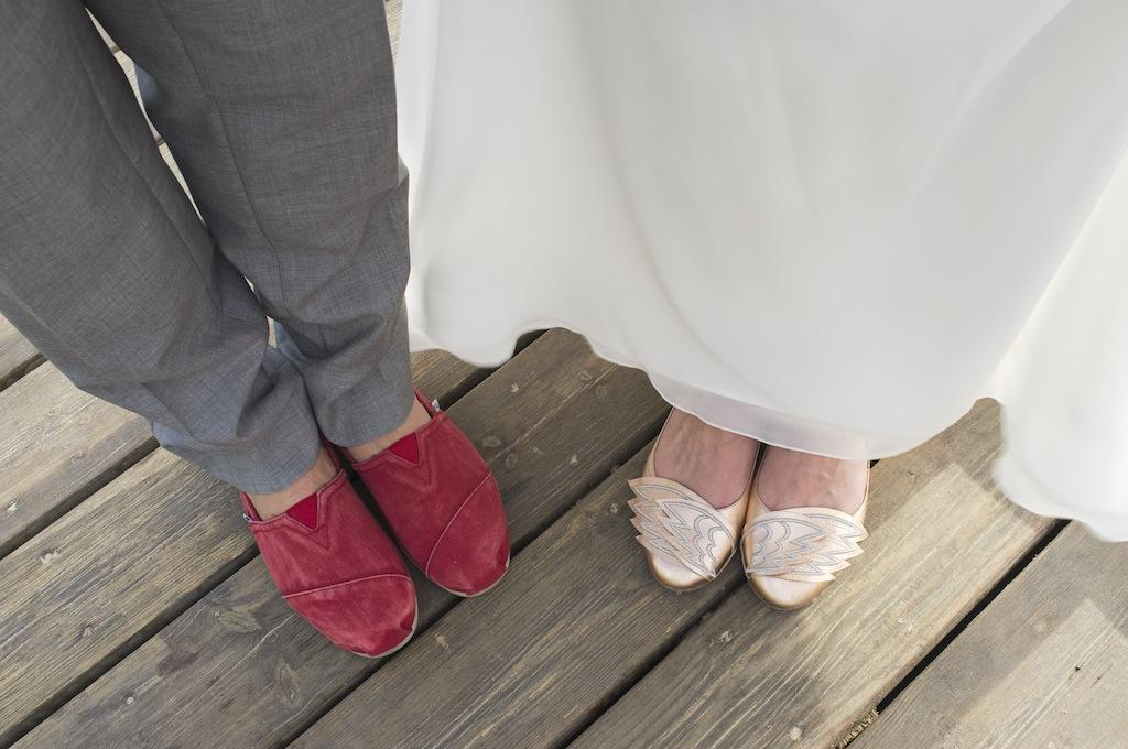 sunny-beach-wedding-olla designs wedding shoes