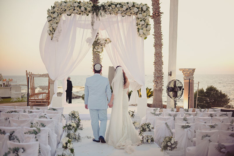wedding chuppah design with flowers Olla designs Israel